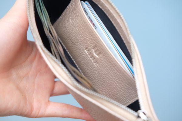KY25 Be hồng ánh kim 7 - MINK Leather